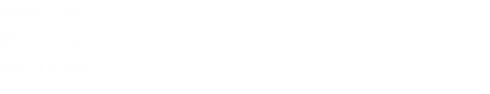 Bacsa Family Dental and Implant Center Logo White